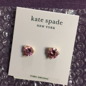 Kate Spade pink faux crystal earrings